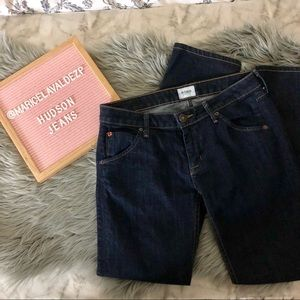 Hudson Carly Flap Straight Jeans